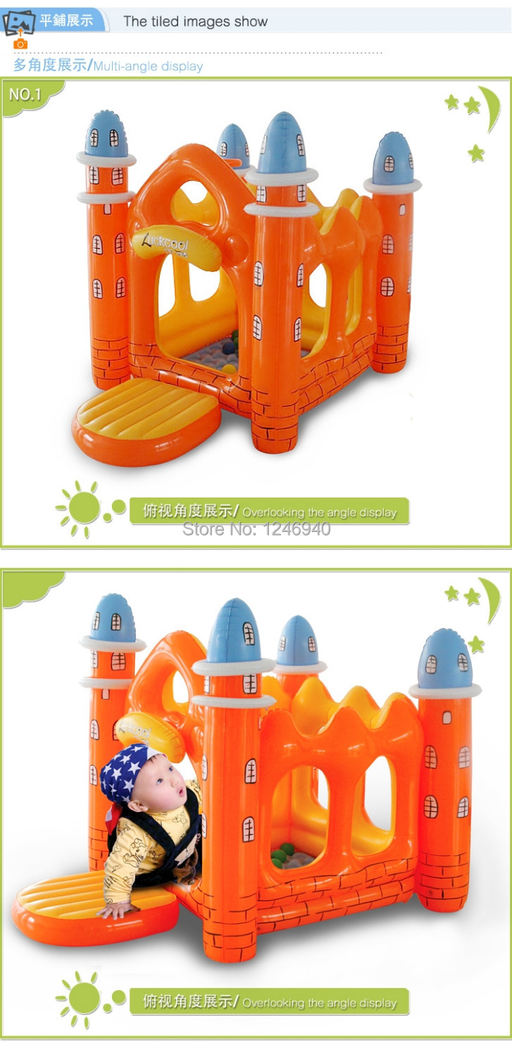 Inflatable thickening indoor household small baby toys children's amusement park equipment naughty castle castle best quality inflatable fun city amusement park hot selling