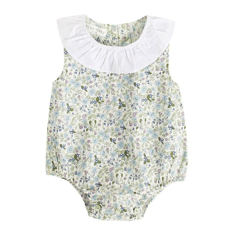 Recién Nacido Infantil Bebé Estampado Floral Mono Traje de Baño Mono Ropa Trajes