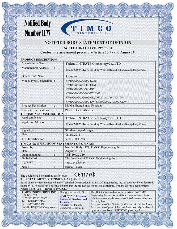 LINTRATEK-CE-Certificate-