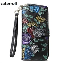 genuine leather women wallets floral long clutch purse famous designer female wallet luxury brand womens purses sendefn genuine leather wallet women wallets and purses female designer brand clutch long purse lady party wallet card holder