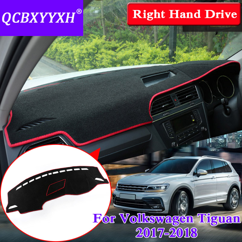 QCBXYYXH For Volkswagen Tiguan 2017 2018 Dashboard Mat Protective Interior Photophobism Pad Shade Cushion Car Styling