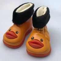 New Keep Warm Kids Girls And Boys Yellow Duck Style Rain Boots Fashion Toddler Children Nonslip