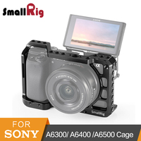 SmallRig a6400 Cage for Sony A6300/ A6400 /A6500 Form Fitted DSLR Camera Cage With 1/4' And 3/8' Threading Holes 2310