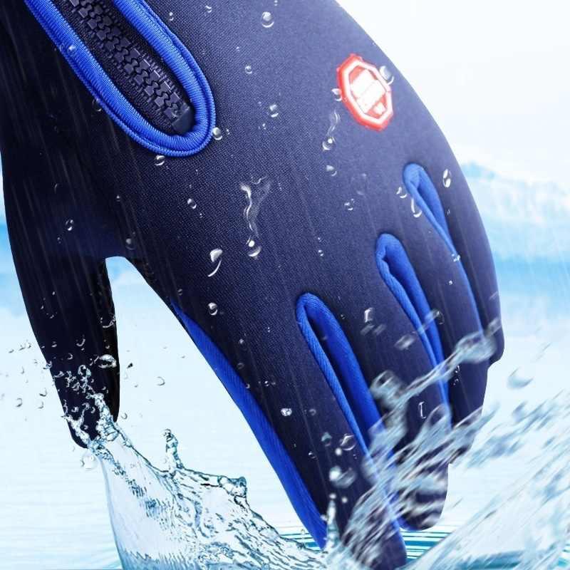 新冬と風プルーフ防水手袋レディース非スリップタッチスクリーンスキーファッション乗馬女性手袋