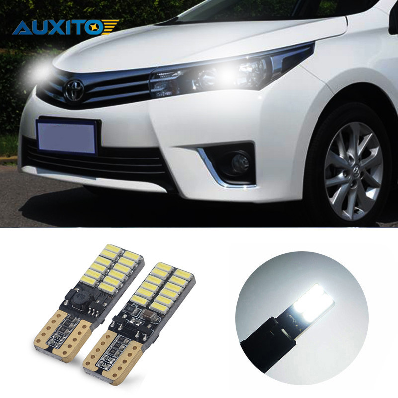 T10 194 W5W Canbus Car Parking Light For Toyota Corolla Avensis Yaris Rav4 Auris Hilux Prius Camry 40 Celica Supra Prado Verso kalaisike leather universal car seat covers for toyota all models rav4 wish land cruiser vitz mark auris prius camry corolla