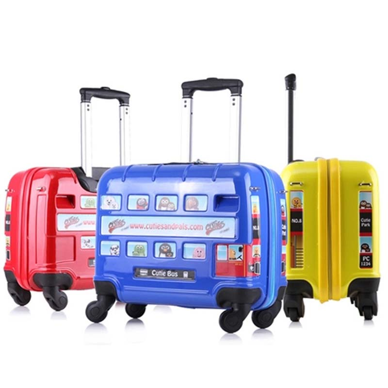 BeaSumore Cute Children Rolling Luggage Spinner Travel Bag On Wheel Kids Suitcase Wheels Boy Trolley Students Password Trunk