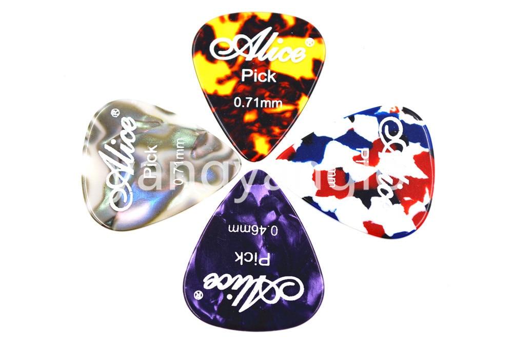 Alice Small Round Metal Pick Holder Case Box 12pcs Pearl Celluloid - Երաժշտական գործիքներ - Լուսանկար 6