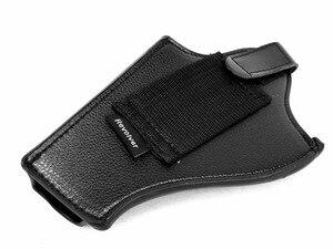 Image 3 - HEIßER! Leder Revolver Holster (Kurze) Outdoor Jagd Airsoftsports Militärische Taktische Rechts hand Polizei pistole Holster Schwarz