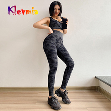 Sports Suit Gym Set Camo Seamless Leggings Sports Bra 2 Piece Yoga Set Fitness Clothing Women Sport Wear Workout Tracksuit women reflective tracksuit patchwork yoga set woman sleeveless workout fitness gym clothing 2019 sport bra pant suits 2 piece