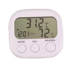 Мини цифровой термометр-гигрометр для помещений с ЖК-дисплеем термо-гигрометры с подставкой для дома