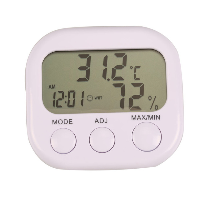 Mini Digital Thermometer Hygrometer Indoor LCD Display Thermo Hygrometers With Stand For Home Wholesale 2018