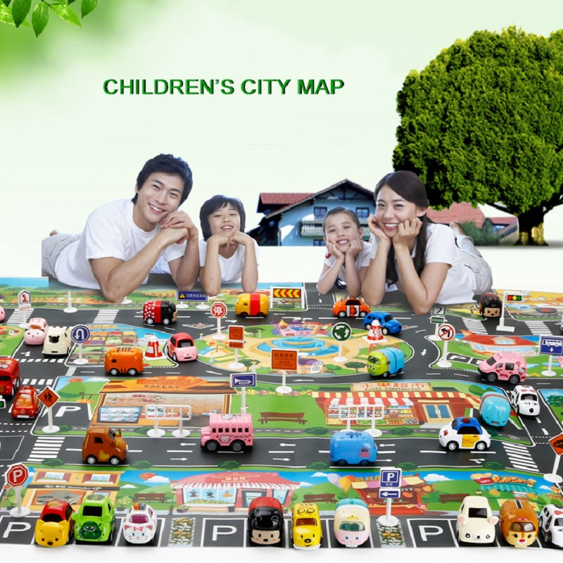 Carpet City Road Scene Traffic Highway Map Play Baby Play Mat Educational Toys For Children Gym Games Gift For Kids