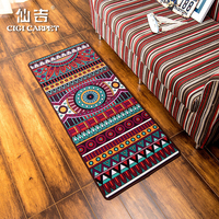 CIGI Vintage Long Floor Mat Anti Skid Bedroom Carpet Desk Table Mat Welcome Door Mat Kitchen Bathroom Nylon Mat Colorful Rugs