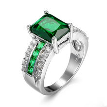 Женское Обручальное кольцо с квадратной огранкой