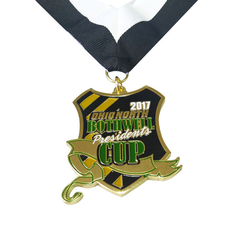 Factory Outlet 2D Souvenir Challenge Sports Metal Medal with Sandblasting in Non currency Coins from Home Garden