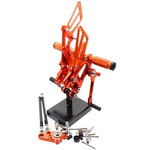 Image 2 - CNC Aluminum Adjustable Rearsets Foot Pegs For Honda CBR600RR CBR 600RR 2007 2008