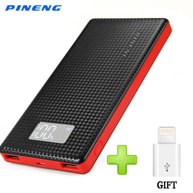 imágenes para Pineng pn-963 pover banco de la energía 10000 mah ultrafina banco de la energía banco de la energía 10000 mah powerbank bateria portable poverbank