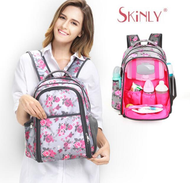 цены Large Capacity Maternity Backpack Diaper Backpack For Travel Multifunctional Mother Baby Bags Nappy Backpack Tote Maternidade