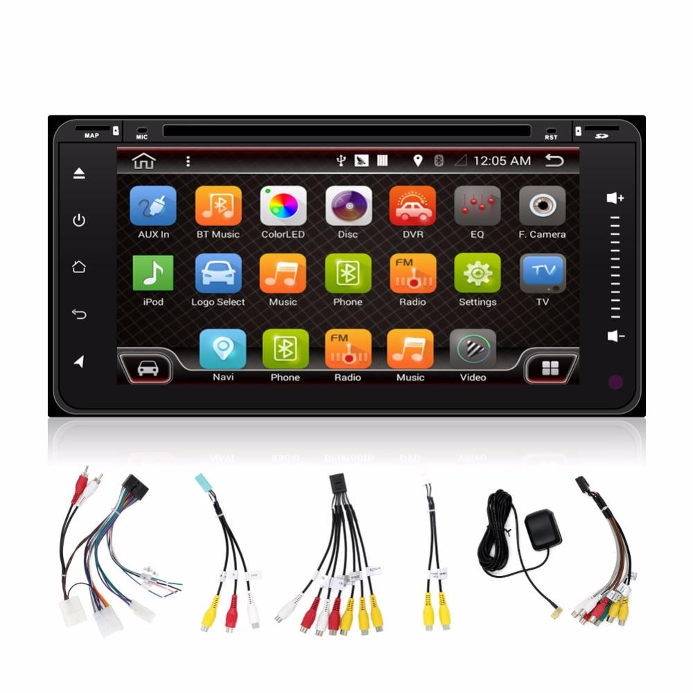 car dvd  android 4.4 2 double din gps navigation Wifi+Bluetooth+Radio for Toyota Hilux VIOS Camry Corolla Prado RAV4 Prado