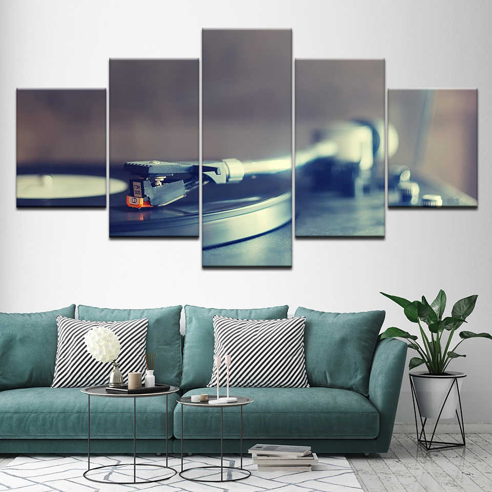 Canvas Painting Lo Fi Jazz Hip Hop music 5 Pieces Wall Art Painting Modular Wallpapers Poster.jpg q50