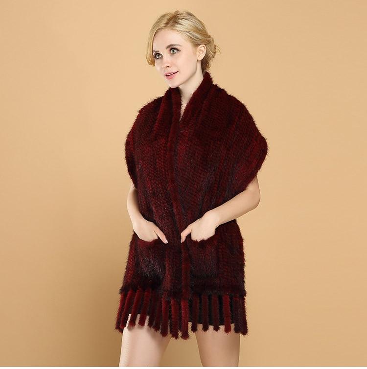 Mink braided shawl βιζόν πλεκτό μακρύ κασκόλ - Αξεσουάρ ένδυσης