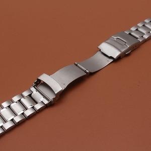 Image 5 - 18มม.20มม.22มม.24มม.สแตนเลสสตีลสร้อยข้อมือนาฬิกาข้อมือนาฬิกาผู้ชายนาฬิกาสายคล้องคอปลายโค้งความปลอดภัยClasp