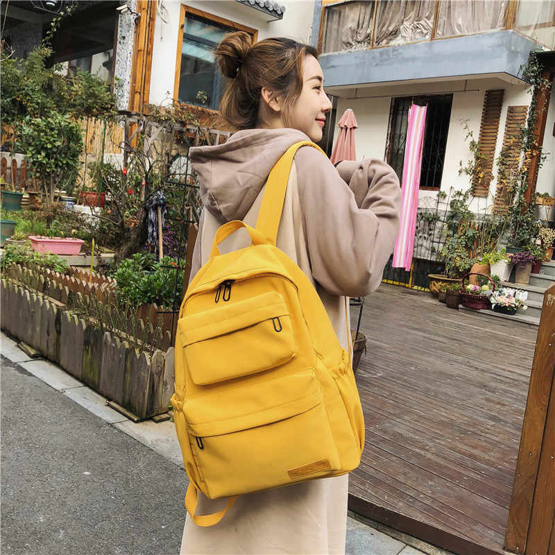Новый водонепроницаемый нейлоновый рюкзак для женщин Дорожная много карманов рюкзаки женская школьная сумка для подростков девочек книга Mochilas