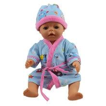 a9e0fb0be6 Ropa para la muñeca cabe 43 cm bebé nacido zapf muñecas y ropa de muñecas  american girl vestido niñas vestido azul pijamas traje.