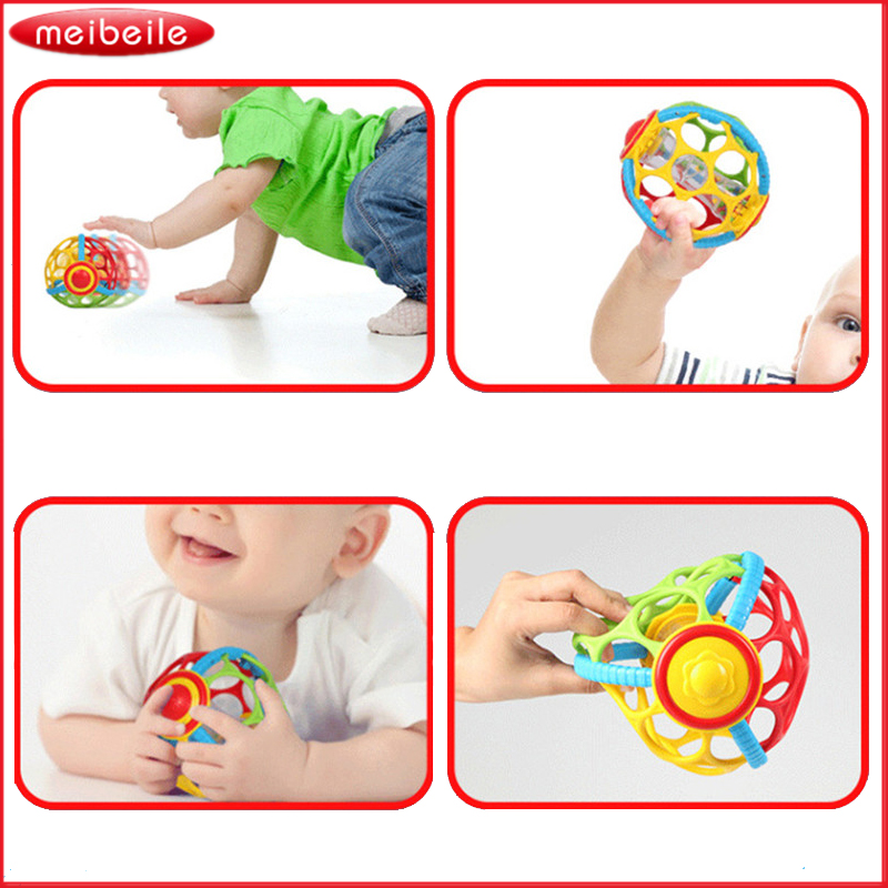 Plastic Children Baby Toys Learning Hand Bell Ring Rattle Toy Balls Baby Rattles Musical Toys Early Educational Development ...