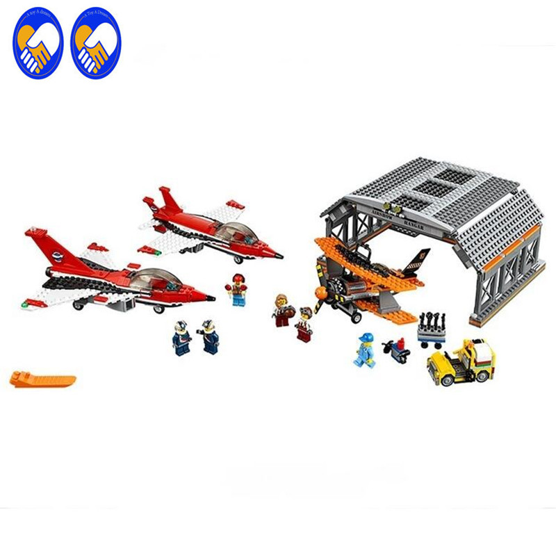 A Toy A Dream LEPIN 02007 bricks toy DIY Building Blocks Compatible with City Airport 60103 Airport Air Show a toy a dream lepin 02043 718pcs building blocks bricks new genuine city series airport terminal toys for children gifts