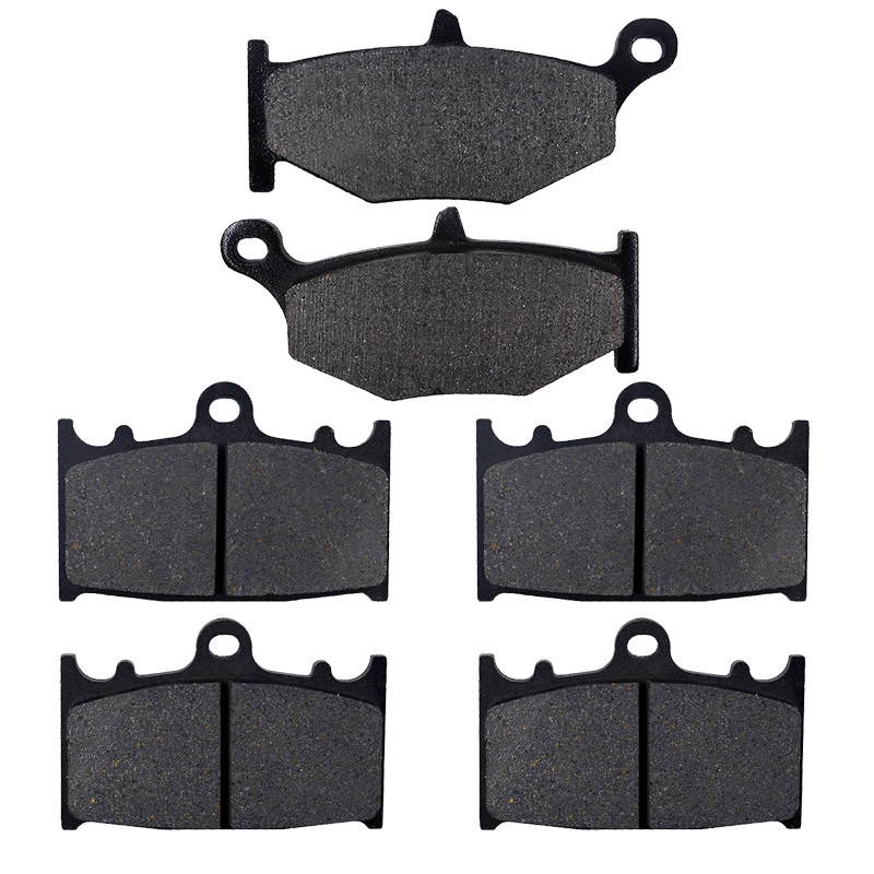 AHL Motorcycle Front and Rear Brake Pads For SUZUKI GSR400 K6 2006 / GSR600 K6/K7/K8 2006-2010 Black Brake Disc Pad motorcycle front and rear brake pads for honda cb600f cb600 f 599 2004 2006 brake disc pad kit
