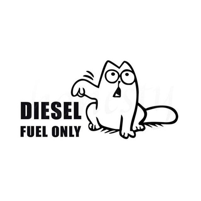1 07 Drôle Chat Diesel Carburant L Humour Autocollant De Voiture Mur Accueil Verre Fenêtre Porte Ordinateur Portable Auto Camion Décoration De