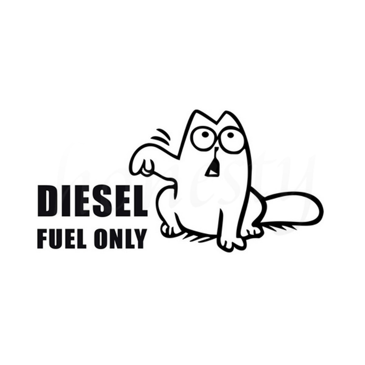 Funny Catsel Fuel Humor Car Sticker Wall Home Glass