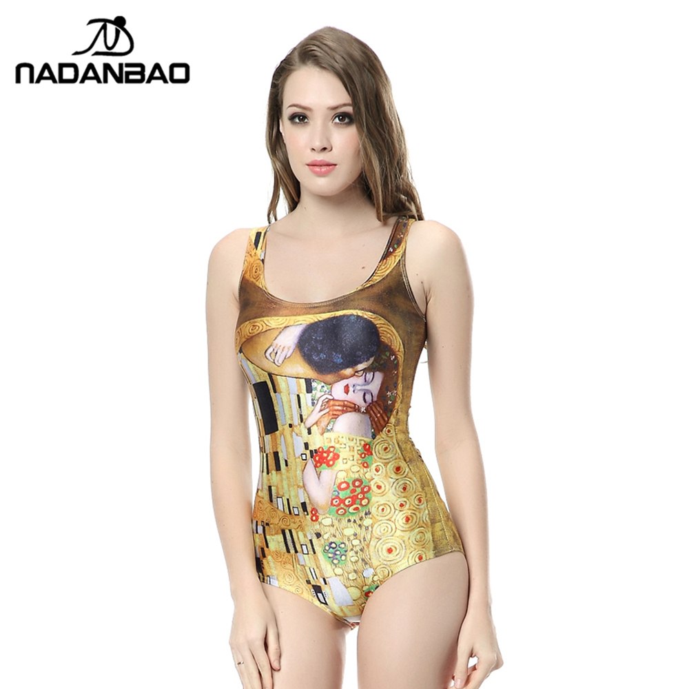 New Arrival Bodysuit Women Swimwear Bathing Suit Love Kiss Printed Sexy Sleeveless Beach Wear One Piece Swimsuit CYQ1142 women cover up swimwear beach dress skirt one piece swimsuit printed tunic bathing suit 2017 new arrival large size