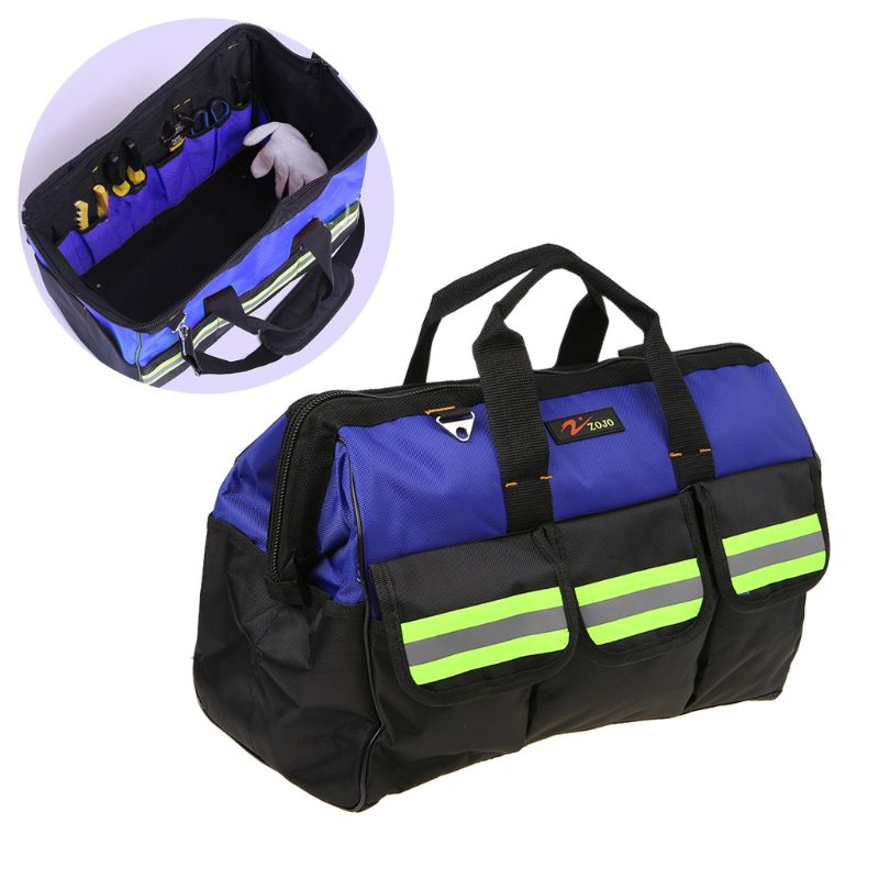 2019 New Portable Electrician Heavy Duty Waterproof Tool Bag Travel Crossbody Bags Large Capacity Hardware Storage Pouch DIY