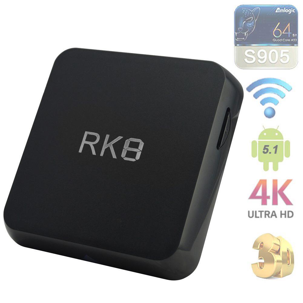 ФОТО RK8 Android 5.1 TV Box RK3368 Octa Core 1080P 64Bit Dual WIFI 2G+8G BT 4.0 US APE