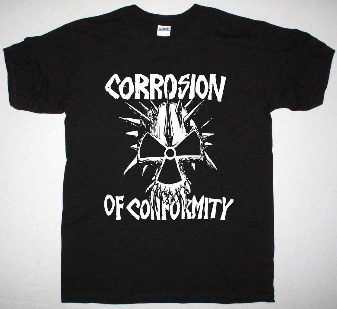 Коррозии соответствия глаз для глаз череп кроссовер C.O.C. Новый черный футболка
