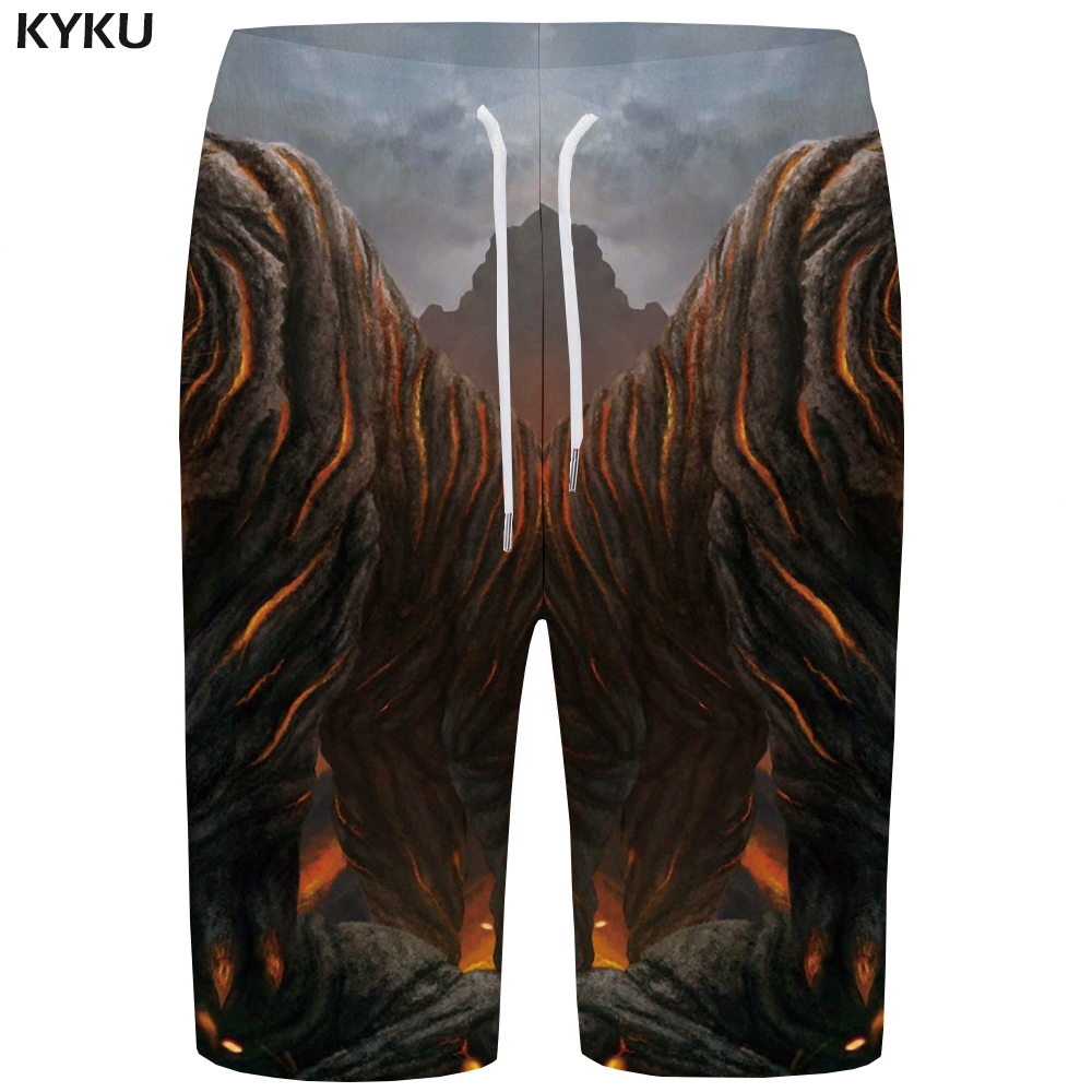 Kyku Vortex Board Shorts Men Dizziness Short Pants Black And White 3d Printed Shorts Quick Silver Gothic Hip Hop Mens Shorts New Men's Clothing