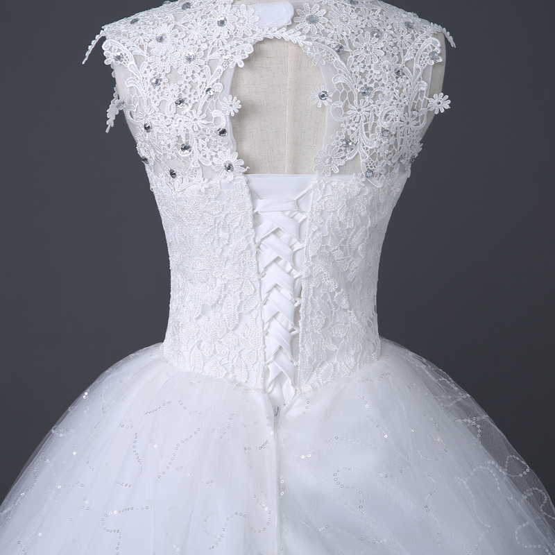 Image 5 - Desinger Simple Lace Wedding Dresses Custom made Cheap Bridal Gowns Vestido De Noiva Vintage Under 100-in Wedding Dresses from Weddings & Events