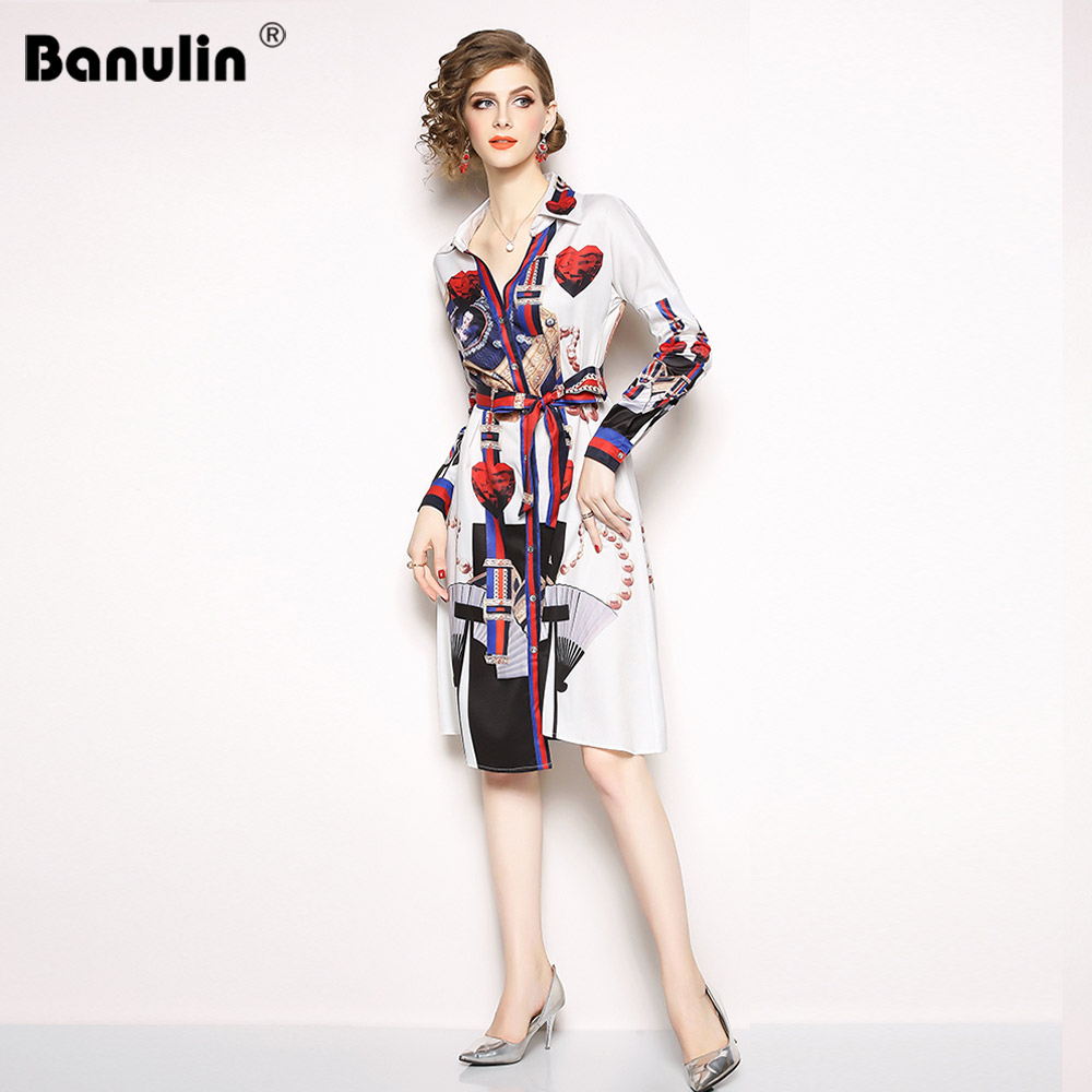 Banulin 2019 High Quality Runway Summer Women 39 s Long Sleeve Elegant Fashion Bow Print Flower Slim Dresses Luxury Dress for Women in Dresses from Women 39 s Clothing
