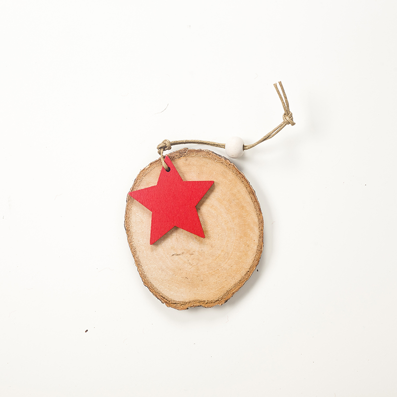 Cute Cartoon Smile Elk Wooden Ornament Christmas Tree Decoration Hanging Pendant Xmas Party Decor for Home Kids Gift Animal 2020 49