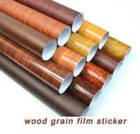 30*100cm PVC grano de madera coche película pegatinas impermeables automóviles vinilo película envoltura pegatina estilo Coche