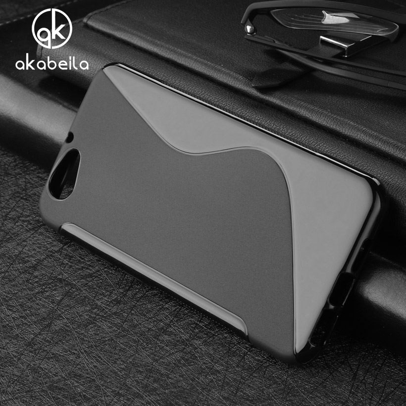 AKABEILA Cases For HTC One A9s Cover 5.0 inch Cell Phone Bag Soft TPU Silicon S Line Black Shell Skin