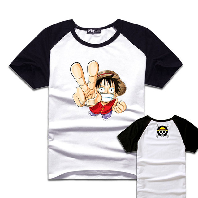 Anime One Piece Affe D Luffy Logo T Shirt Manner Kurze Hulse Drucken Baumwolle