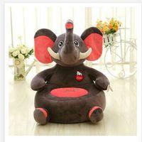 Около 50x48 см мультфильм животных дизайн плюшевые игрушки слон, панда, орангутан динозавр диван татами плюшевая игрушка для дивана напольные...