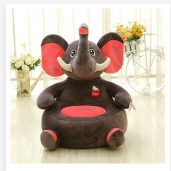about 50x48cm cartoon animal design plush toy elephant, panda ,Orangutan Dinosaur sofa tatami plush toy sofa floor seat cushion