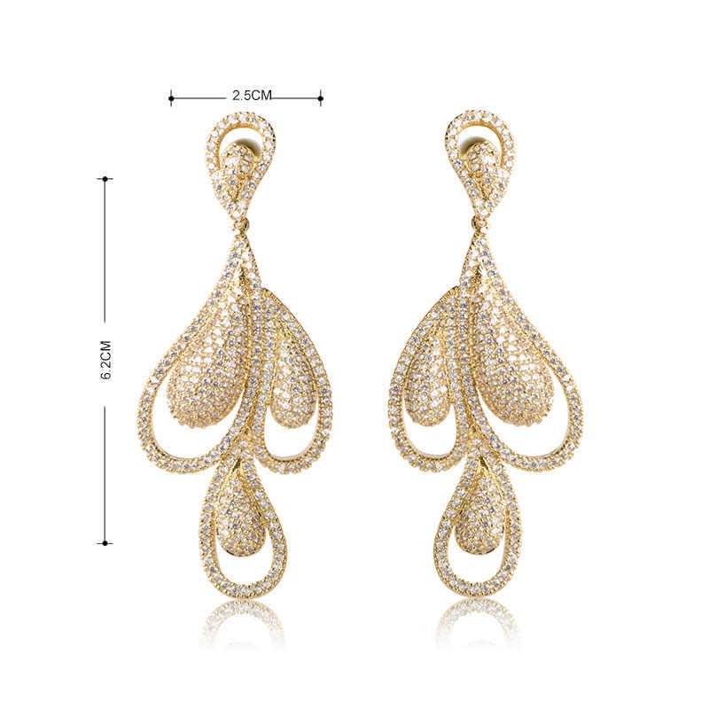 Dazz роскошный галстук-бабочка ожерелье-чокер висячие серьги кольцо браслет набор полный кубические украшения с цирконами наборы для свадебных женщин