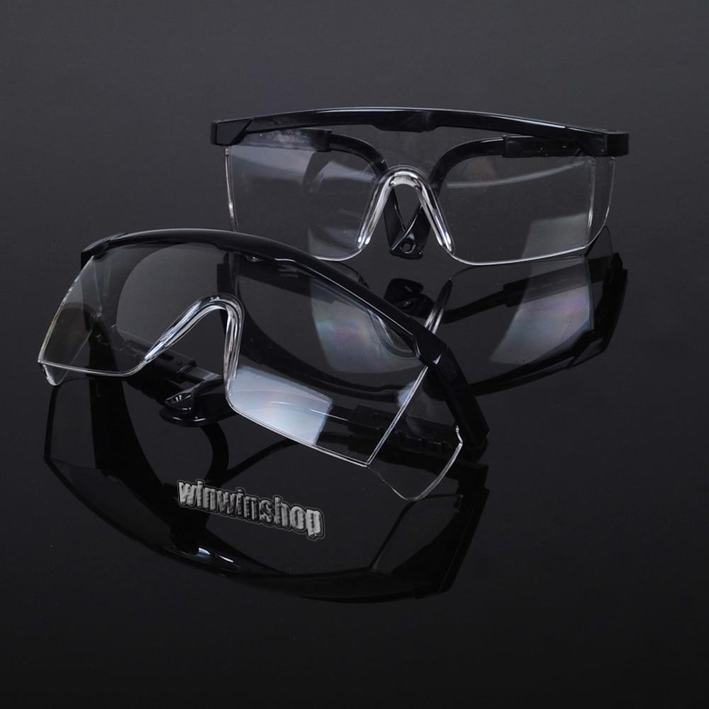 2Pcs Dental Black Protective Eye Goggles Safety Glasses