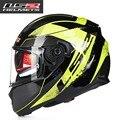 2017 FF320 LS2 de la cara llena casco de la motocicleta con anti-niebla de la lente hombres mujeres carreras ECE DOT cascos lente dual aprobado