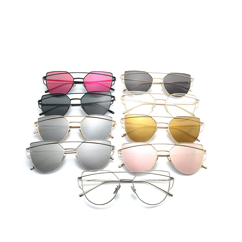 Double Beam Metal Frame Sunglasses Women Luxury Clear Lens Glasses UV400 Eyeglasses for Men Goggles Gafas Oculos Shades 808DF 6